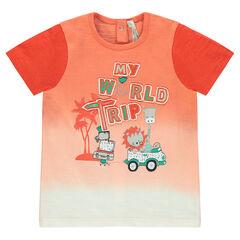 Tee-shirt manches courtes avec animaux printés