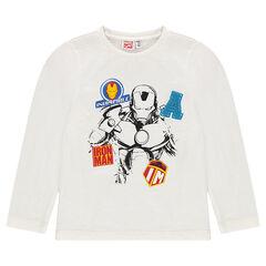 Tee-shirt manches longues print Marvel Iron Man