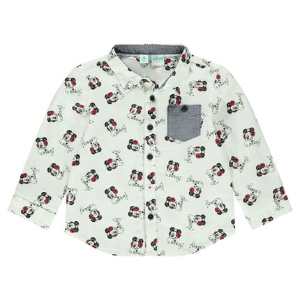 Chemise manches longues en gaze Disney avec motif Mickey all-over