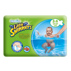 Set de 12 couches de natation jetables Little Swimmers Taille 3/4 - Vert