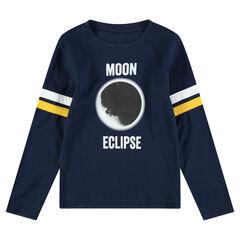 Junior - Tee-shirt manches longues en jersey avec éclipse printée