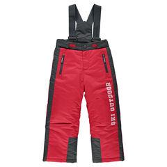 Pantalon de ski à poches zippées et bretelles amovibles
