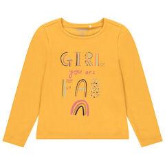 T-shirt manches longues à print fantaisie pour enfant fille , Orchestra