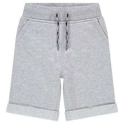 Junior - Bermuda en molleton uni avec poches