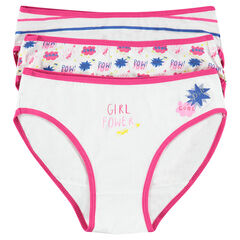 Junior - Lot de 3 culottes fantaisie