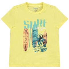 T-shirt manches courtes en coton print planches de surf , Orchestra