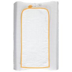 Housse de matelas à langer à rayures et tapis en éponge
