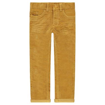 Junior - Pantalon en velours effet crinkle