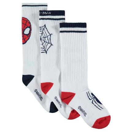 Lot de 3 paires de chaussettes avec Spiderman Marvel en jacquard