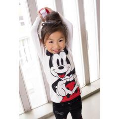 Tee-shirt manches longues en jersey avec print ©Disney Mickey et encolure volantée