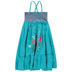 0c4ea00142280 Robe longue smokée avec fleurs printées