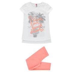 Junior - Pyjama print fantaisie en jersey