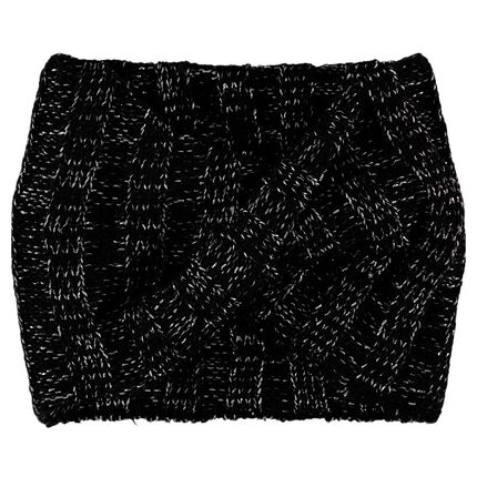Snood en tricot mélangé de fil argenté
