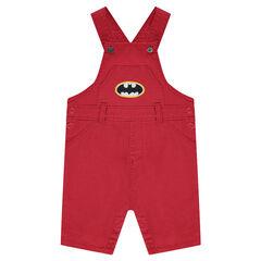 Salopette courte en coton fantaisie JUTICE LEAGUE - CHIBI avec logo Batman brodé