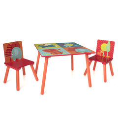 Set 2 chaises et table Jungle