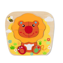 Puzzle Lion - Orange/Rouge