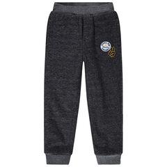 Pantalon de jogging doublé sherpa avec patch