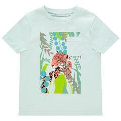 T-shirt manches courtes print tigre et poche plaquée , Orchestra