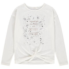 Junior - T-shirt manches longues avec planètes printées