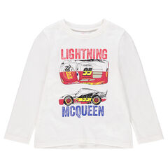 Tee-shirt manches longues en jersey uni avec print Cars Disney/Pixar®