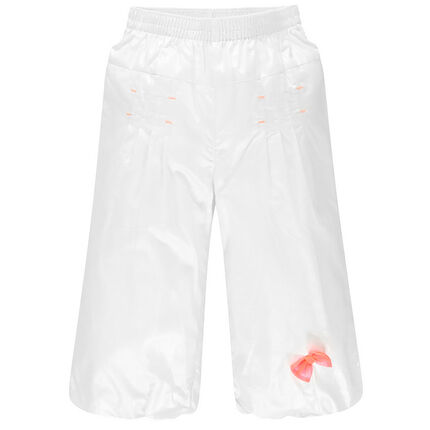 Pantalon de cérémonie en voile de coton effet satiné