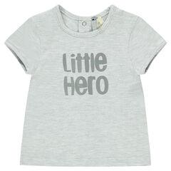 Tee-shirt manches courtes avec message printé