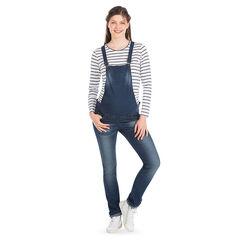 Salopette de grossesse en jeans effet used