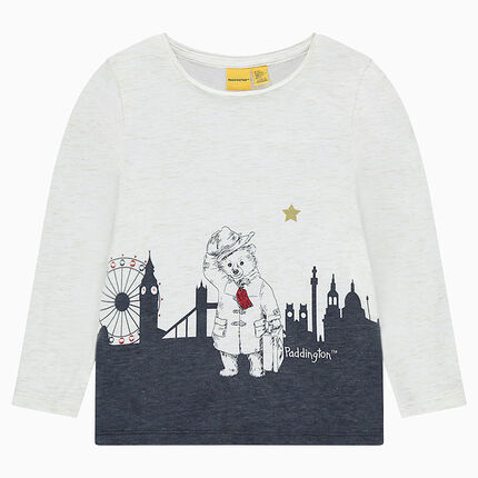 Tee-shirt en jersey slub brillant print ©Paddington