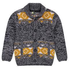 Junior - Gilet en tricot avec motif jacquard