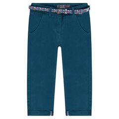 Pantalon chino 7/8ème avec ceinture imprimée amovible
