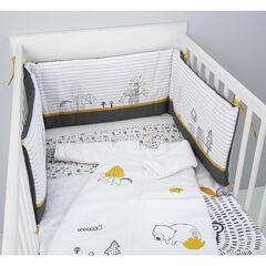Tour de lit en popeline de coton motif Animaux de la forêt , Prémaman