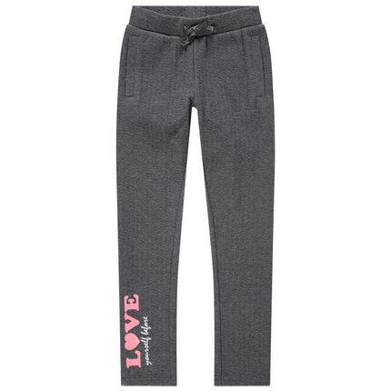 Pantalon de jogging à inscription printée rose