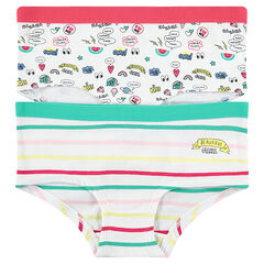 Junior - Lot de 2 shorties imprimés fantaisie