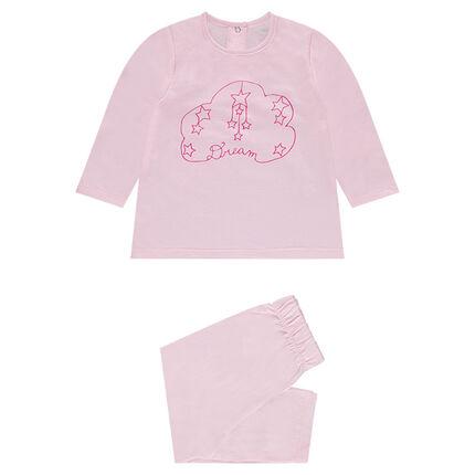 Pyjama en jersey avec nuage printé