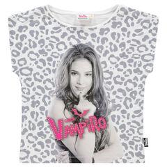 Junior - Tee-shirt manches courtes imprimé léopard et print Chica Vampiro