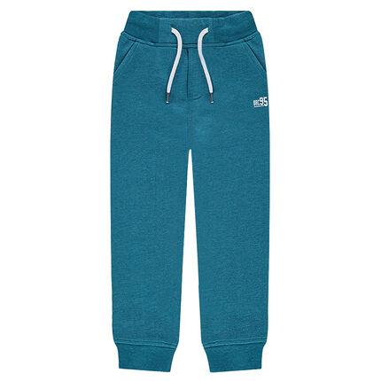Junior - Pantalon de jogging en molleton uni avec logo printé