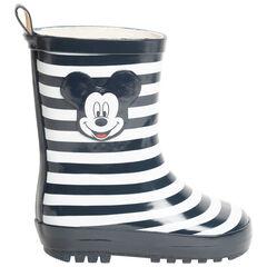 Bottes de pluie pour enfant garçon à rayures print Mickey Disney , SAXO BLUES