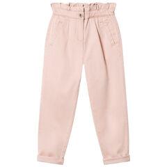 Pantalon en toile slouchy rose pâle , Orchestra