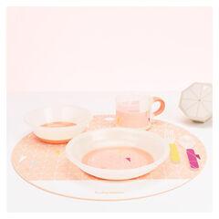 Coffret vaisselle antidérapante - Peach
