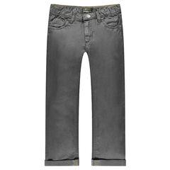 Jeans coupe droite enduit