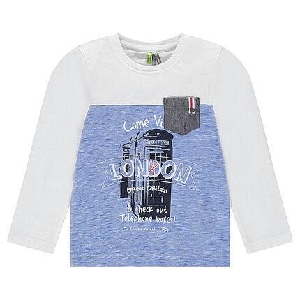 """Tee-shirt manches longues avec visuel printé """"London"""" sur le devant"""