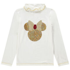 Sous-pull col roulé motif Minnie en sequins magiques Disney