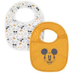 Lot de 2 bavoirs en coton print Mickey Disney , Prémaman