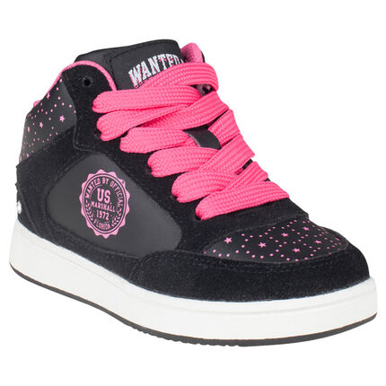 US Marshall Baskets noires et roses