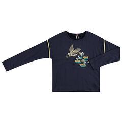 Junior - Sweat en molleton avec oiseau brodé devant
