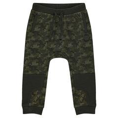 Pantalon de jogging en molleton motif army