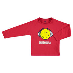 Tee-shirt manches longues en jersey avec ©Smiley printé