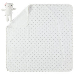 Couverture à pois all-over avec peluche