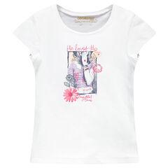 Tee-shirt manches courtes printé