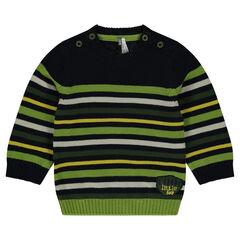 Pull en tricot à rayures contrastées